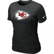 Wholesale Cheap Women's Nike Kansas City Chiefs Logo NFL T-Shirt Black