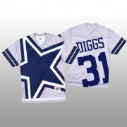Wholesale Cheap NFL Dallas Cowboys #31 Trevon Diggs White Men's Mitchell & Nell Big Face Fashion Limited NFL Jersey