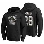 Wholesale Cheap New Orleans Saints #28 Latavius Murray 2019 NFC South Division Champions Black Cover Two Hoodie