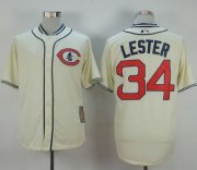 Wholesale Cheap Cubs #34 Jon Lester Cream 1929 Turn Back The Clock Stitched MLB Jersey