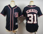 Wholesale Cheap Nationals #31 Max Scherzer Blue Cool Base Stitched Youth MLB Jersey