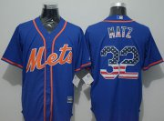 Wholesale Cheap Mets #32 Steven Matz Blue USA Flag Fashion Stitched MLB Jersey