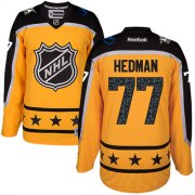 Wholesale Cheap Lightning #77 Victor Hedman Yellow 2017 All-Star Atlantic Division Stitched Youth NHL Jersey