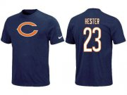 Wholesale Cheap Nike Chicago Bears #23 Devin Hester Name & Number NFL T-Shirt Blue