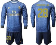 Wholesale Cheap Real Madrid #28 Vinicius Jr. Away Long Sleeve Soccer Club Jersey