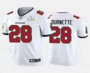 Wholesale Cheap Men's Tampa Bay Buccaneers #28 Leonard Fournette White 2021 Super Bowl LV Limited Stitched NFL Jersey