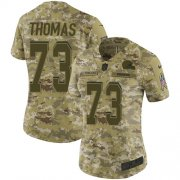 Wholesale Cheap Nike Browns #73 Joe Thomas Camo Women's Stitched NFL Limited 2018 Salute to Service Jersey