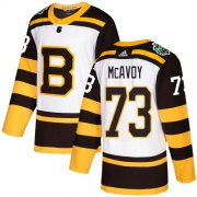 Wholesale Cheap Adidas Bruins #73 Charlie McAvoy White Authentic 2019 Winter Classic Youth Stitched NHL Jersey