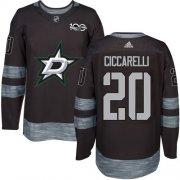 Wholesale Cheap Adidas Stars #20 Dino Ciccarelli Black 1917-2017 100th Anniversary Stitched NHL Jersey