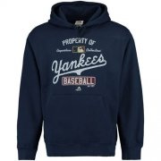 Wholesale Cheap New York Yankees Majestic Vintage Property of Navy MLB Hoodie