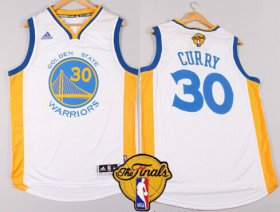 Wholesale Cheap Men\'s Golden State Warriors #30 Stephen Curry White 2016 The NBA Finals Patch Jersey