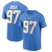 Wholesale Cheap Los Angeles Chargers #97 Joey Bosa Nike Team Player Name & Number T-Shirt Powder Blue