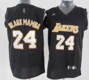 Wholesale Cheap Los Angeles Lakers #24 Black Mamba Black Fashion Jersey