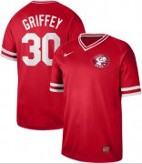 Wholesale Cheap Nike Reds #30 Ken Griffey Red Authentic Cooperstown Collection Stitched MLB Jersey