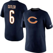 Wholesale Cheap Nike Chicago Bears #6 Jay Culter Name & Number NFL T-Shirt Midnight Blue