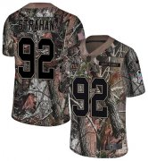 Wholesale Cheap Nike Giants #92 Michael Strahan Camo Men's Stitched NFL Limited Rush Realtree Jersey