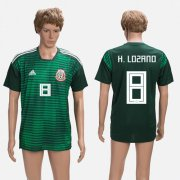 Wholesale Cheap Mexico #8 H.Lozano Green Training Soccer Country Jersey