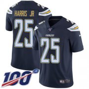 Wholesale Cheap Nike Chargers #25 Chris Harris Jr Navy Blue Team Color Youth Stitched NFL 100th Season Vapor Untouchable Limited Jersey