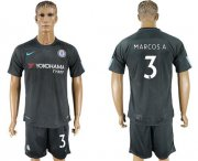 Wholesale Cheap Chelsea #3 Marcos A. Black Soccer Club Jersey