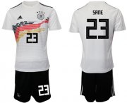 Wholesale Cheap Germany #23 Sane White Home Soccer Country Jersey