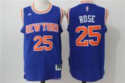 Wholesale Cheap Men's New York Knicks #25 Derrick Rose Blue Revolution 30 Swingman Basketball Jersey
