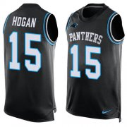 Wholesale Cheap Nike Panthers #15 Chris Hogan Black Team Color Men's Stitched NFL Limited Tank Top Jersey