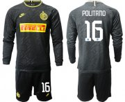 Wholesale Cheap Inter Milan #16 Politano Third Long Sleeves Soccer Club Jersey