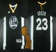 Wholesale Cheap Golden State Warriors #23 Draymond Green Revolution 30 Swingman 2014 New Black Short-Sleeved Jersey With 2015 Finals Champions Patch