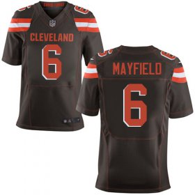 Wholesale Cheap Nike Browns #6 Baker Mayfield Brown Team Color Men\'s Stitched NFL Elite Jersey