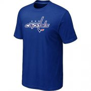 Wholesale Cheap Washington Capitals Big & Tall Logo Blue NHL T-Shirt