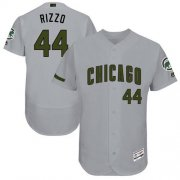 Wholesale Cheap Cubs #44 Anthony Rizzo Grey Flexbase Authentic Collection Memorial Day Stitched MLB Jersey