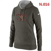 Wholesale Cheap Women's Nike Chicago Bears Heart & Soul Pullover Hoodie Grey