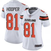 Wholesale Cheap Nike Browns #81 Austin Hooper White Women's Stitched NFL Vapor Untouchable Limited Jersey