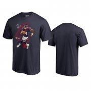 Wholesale Cheap Houston Texans #4 Deshaun Watson Navy Men's Player Graphic Powerhouse T-Shirt