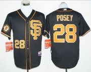 Wholesale Cheap Giants #28 Buster Posey Black 2016 Cool Base Stitched MLB Jersey