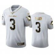Wholesale Cheap Miami Dolphins #3 Josh Rosen Men's Nike White Golden Edition Vapor Limited NFL 100 Jersey