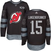Wholesale Cheap Adidas Devils #15 Jamie Langenbrunner Black 1917-2017 100th Anniversary Stitched NHL Jersey