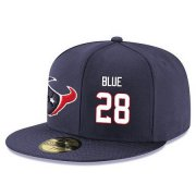 Wholesale Cheap Houston Texans #28 Alfred Blue Snapback Cap NFL Player Navy Blue with White Number Stitched Hat