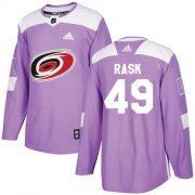 Wholesale Cheap Adidas Hurricanes #49 Victor Rask Purple Authentic Fights Cancer Stitched Youth NHL Jersey