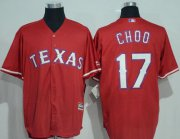 Wholesale Cheap Rangers #17 Shin-Soo Choo Red New Cool Base Stitched MLB Jersey