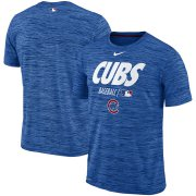 Wholesale Cheap Chicago Cubs Nike Authentic Collection Velocity Team Issue Performance T-Shirt Royal