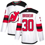 Wholesale Cheap Adidas Devils #30 Martin Brodeur White Road Authentic Stitched NHL Jersey