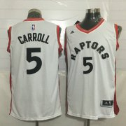 Wholesale Cheap Men's Toronto Raptors #5 DeMarre Carroll White New NBA Rev 30 Swingman Jersey