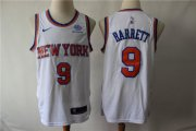 Wholesale Cheap Knicks 9 R.J. Barrett White City Edition Nike Swingman Jersey