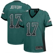 Wholesale Cheap Nike Eagles #17 Alshon Jeffery Midnight Green Team Color Women's Stitched NFL Elite Drift Fashion Jersey