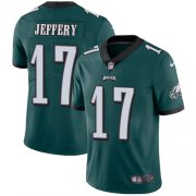 Wholesale Cheap Nike Eagles #17 Alshon Jeffery Midnight Green Team Color Youth Stitched NFL Vapor Untouchable Limited Jersey