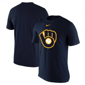 Wholesale Cheap Milwaukee Brewers Nike Batting Practice Logo Legend Performance T-Shirt Navy