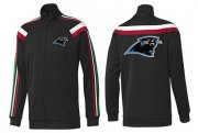 Wholesale Cheap NFL Carolina Panthers Team Logo Jacket Black_2