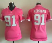 Wholesale Cheap Nike Redskins #91 Ryan Kerrigan Pink Women's Stitched NFL Elite Bubble Gum Jersey