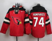 Wholesale Cheap Nike Cardinals #74 D.J. Humphries Red Player Pullover NFL Hoodie
